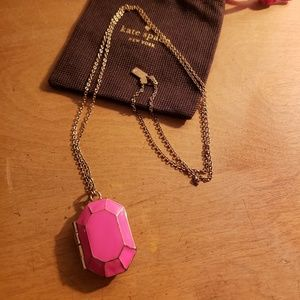 Kate Spade Jewel Bar Pendant Necklace - Pink